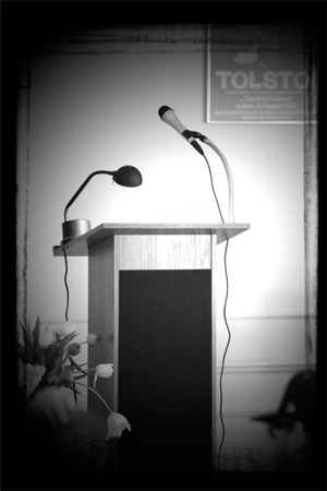 microphone and podium